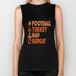 Thanksgiving Turkey Football Funny Apparel Gift Biker Tank