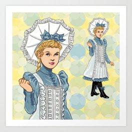 Alice Bonnet Art Print