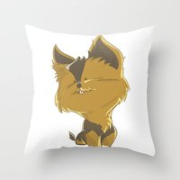 terrier Throw Pillows featuring Terrier by thinkgabriel
