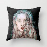 goddess Throw Pillows featuring Goddess  by Jenn