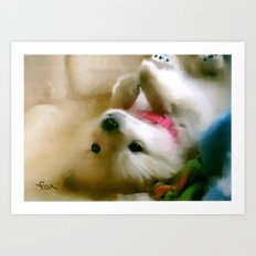 PUPPY PAWS Art Print