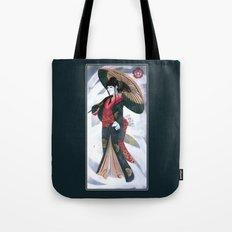 Japanese Woman Street Art Tote Bag