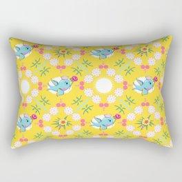 SAILOR PINK Swallow repeat gold Rectangular Pillow