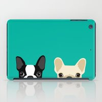 french iPad Cases featuring Boston Terrier & French Bulldog 2 by Anne Was Here