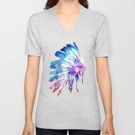 mandala colorful headdress Unisex V-Neck