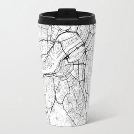 Gothenburg Map White Travel Mug