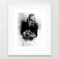 gladiator Framed Art Prints featuring The Gladiator by Matthew Dunn