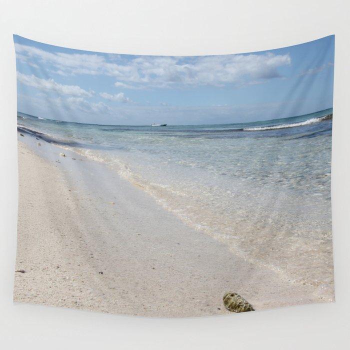 Caribbean Paradise Beach Wall Tapestry