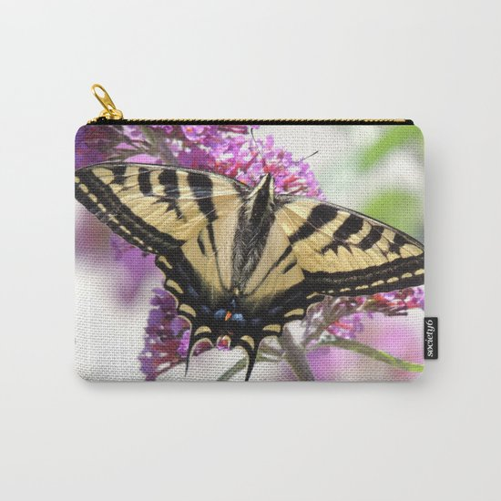 Western Tiger Swallowtail on the Neighbor's Butterfly Bush Carry-All Pouch