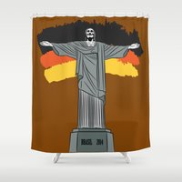brasil Shower Curtains featuring Brasil 2014 by andy551