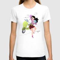 vespa T-shirts featuring Vespa by Tora Nami