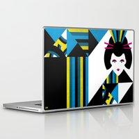 geisha Laptop & iPad Skins featuring GEISHA by Oscar Odd Diodoro