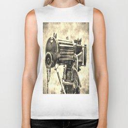 Vickers Machine Gun Vintage Biker Tank