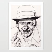 frank Art Prints featuring Frank by Paul Nelson-Esch Art