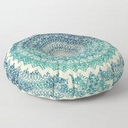 BICOLOR COLD WINTER MANDALA Floor Pillow