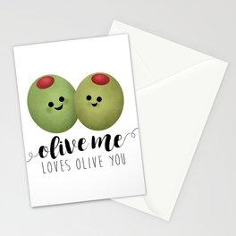 Olive Me Loves Olive You Stationery Cards