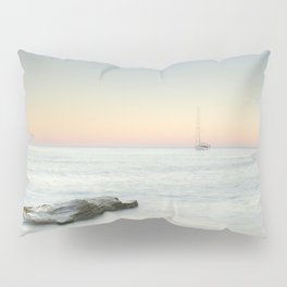 SuperMoon At Plomo Beach. Summer dreams Pillow Sham