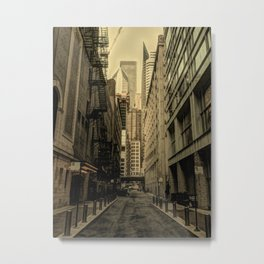 Down Darkened Alley Metal Print