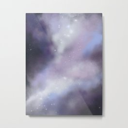 purple galaxy digital painting Metal Print