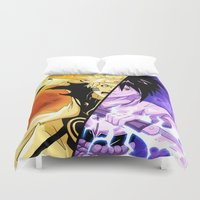 sasuke Duvet Covers featuring The Fated Showdown by The Sketchy Corner - Ian Moir