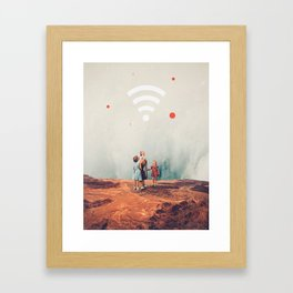 Wirelessly connected to Eternity Framed Art Print