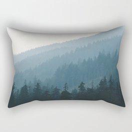 Hazy British Columbia Mountains Rectangular Pillow