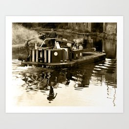Leeds and Liverpool canal barge  Art Print