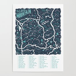 New Hampshire 4000 Footer Map Poster