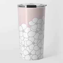 Forget Me Knot Pink Boarder Travel Mug