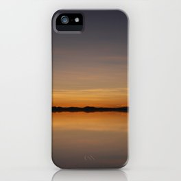 Sunset Salar de Uyuni 7 - Bolivia - Landscape and Rural Art Photography iPhone Case