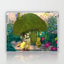 Cute fairy sitting on a mushroom Laptop & iPad Skin