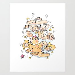 Wild family series - Capybara Art Print