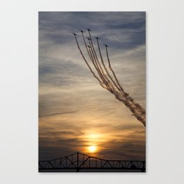 Airplanes over Louisville Canvas Print