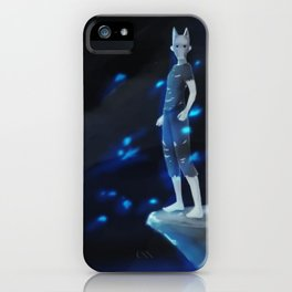Wild boy with Wolf Pagan Mask iPhone Case