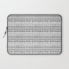 Black & White Hand Drawn Pattern Laptop Sleeve