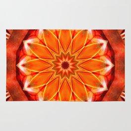 Mandala bitter orange Rug