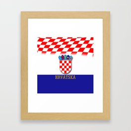 Croatian Flag Pattern EURO 2016 Framed Art Print