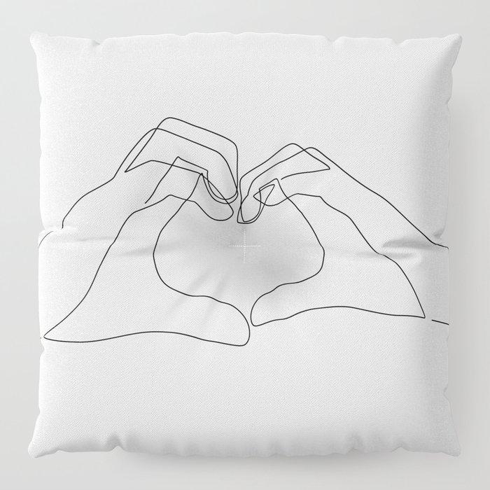 Hand Heart Floor Pillow