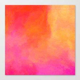 Texture orange kisses pink Canvas Print