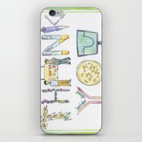 biology iPhone & iPod Skins featuring Biology Thank You card by SaelifeStudio