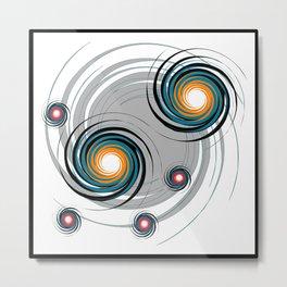 Spinning worlds Metal Print