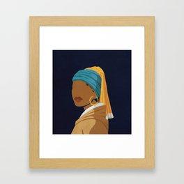 Girl With a Bamboo Earring Framed Art Print