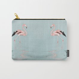 Flamingo on turquoise waters Carry-All Pouch