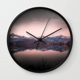 Avigliana Lake Wall Clock