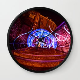 Light Painting Wall Clock