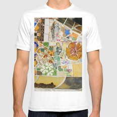 Parc Güell MEDIUM White Mens Fitted Tee