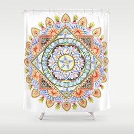Passion Flower Mandala Shower Curtain