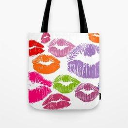 Colorful Lipstick Kisses Lip Color Tote Bag