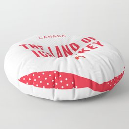 Canada the Land of Ice Hockey Floor Pillow