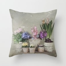 longing for springtime Throw Pillow